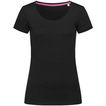 textil Mujer Camisetas manga corta Stedman Stars  Negro ópalo