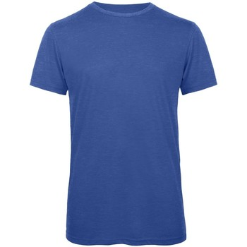 textil Hombre Camisetas manga corta B And C TM055 Azul Real jaspeado