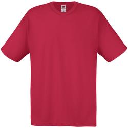 textil Hombre Camisetas manga corta Universal Textiles 61082 Rojo Oscuro