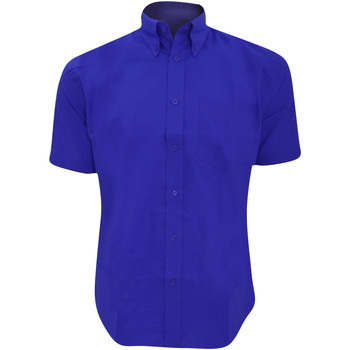 textil Hombre Camisas manga corta Kustom Kit KK350 Azul italiano