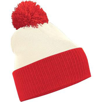 Accesorios textil Niño Gorro Beechfield B451 Blanco/rojo