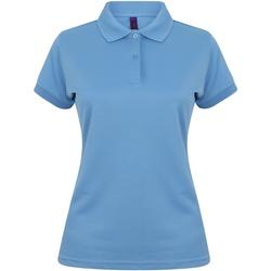 textil Mujer Polos manga corta Henbury Coolplus Azul medio