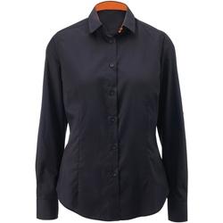 textil Mujer Camisas Alexandra AX060 Negro/Naranja