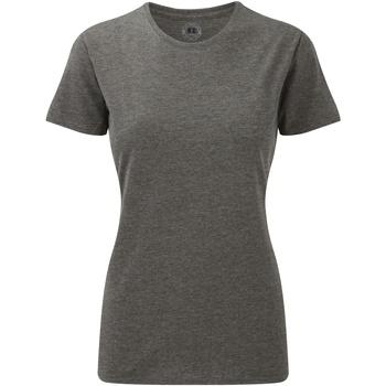 textil Mujer Camisetas manga corta Russell 165F Gris Jaspeado