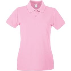 textil Mujer Polos manga corta Universal Textiles 63030 Rosa pálido