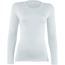 textil Mujer Camisetas manga larga Rhino  Blanco