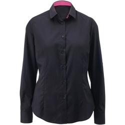 textil Mujer Camisas Alexandra AX060 Negro/Rosa