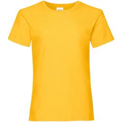 textil Niña Camisetas manga corta Fruit Of The Loom Valueweight Amarillo oscuro