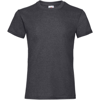 textil Niña Camisetas manga corta Fruit Of The Loom Valueweight Gris oscuro