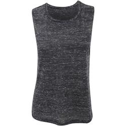 textil Mujer Camisetas sin mangas Bella + Canvas BE8803 Negro jaspeado
