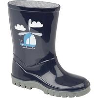 Zapatos Niño Botas de agua Stormwells Helicopter Azul Marino/Gris
