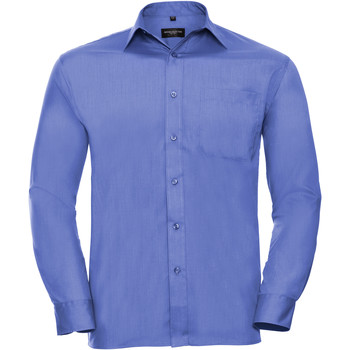 textil Hombre Camisas manga larga Russell 934M Azul corporativo