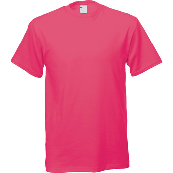 textil Hombre Camisetas manga corta Universal Textiles 61082 Rosa Fuerte