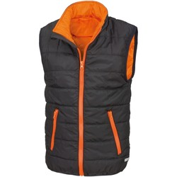 textil Niños Chaquetas de punto Result R234JY Negro/Naranja