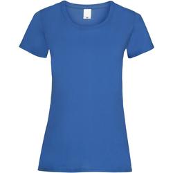 textil Mujer Camisetas manga corta Universal Textiles 61372 Azul cobalto