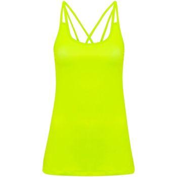 textil Mujer Camisetas sin mangas Tridri TR029 Amarillo Rayo