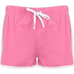 textil Mujer Shorts / Bermudas Skinni Fit SK69 Rosa Fuerte/Blanco