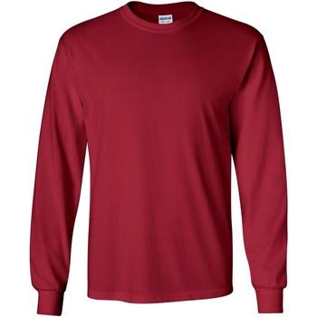 textil Hombre Camisetas manga larga Gildan 2400 Rojo Cardinal