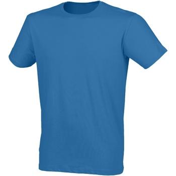 textil Hombre Camisetas manga corta Skinni Fit SF121 Azul surf