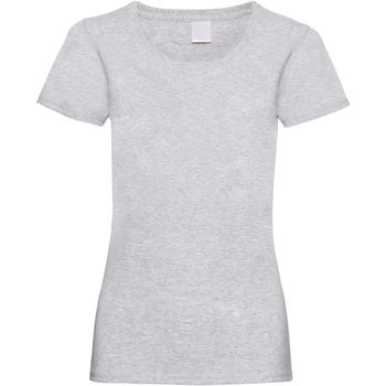 textil Mujer Camisetas manga corta Universal Textiles 61372 Gris piedra