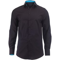 textil Hombre Camisas manga larga Alexandra Hospitality Negro/Turquesa