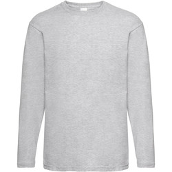 textil Hombre Camisetas manga larga Universal Textiles 61038 Gris piedra