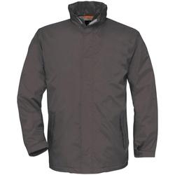 textil Hombre Cortaviento B And C BA675 Gris oscuro