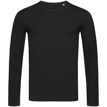 textil Hombre Camisetas manga larga Stedman Stars  Negro ópalo