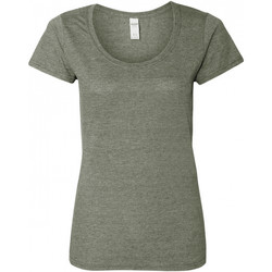 textil Mujer Camisetas manga corta Gildan 64550L Grafito mezcla