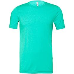 textil Hombre Camisetas manga corta Bella + Canvas CA3001 Verde Sea Jaspeado