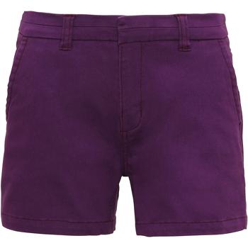textil Mujer Shorts / Bermudas Asquith & Fox AQ061 Púrpura
