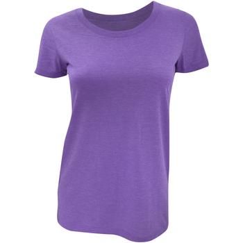 textil Mujer Camisetas manga corta Bella + Canvas BE8413 Púrpura  Jaspeado