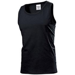 textil Hombre Camisetas sin mangas Stedman  Negro ópalo