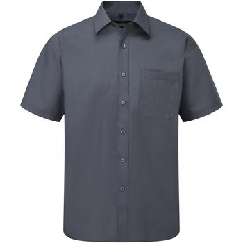 textil Hombre Camisas manga corta Russell 935M Gris militar