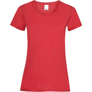 textil Mujer Camisetas manga corta Universal Textiles 61372 Rojo brillante