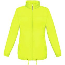 textil Mujer Cortaviento B And C JW902 Amarillo ultra