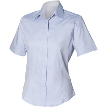 textil Hombre Camisas manga corta Henbury HB556 Azul claro