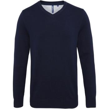 textil Hombre Jerséis Asquith & Fox AQ042 Azul marino