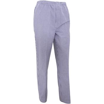 textil Pantalones fluidos Premier  Cuadros Azul Marino/Blanco
