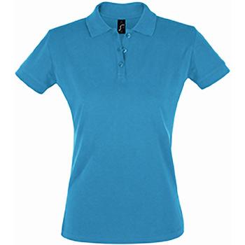 textil Mujer Polos manga corta Sols 11347 Azul agua