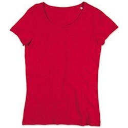 textil Mujer Camisetas manga corta Stedman Stars Sharon Rojo pasión