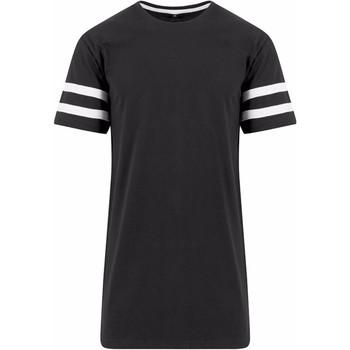 textil Hombre Camisetas manga corta Build Your Brand BY032 Negro/Blanco