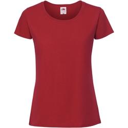 textil Mujer Camisetas manga corta Fruit Of The Loom SS424 Rojo
