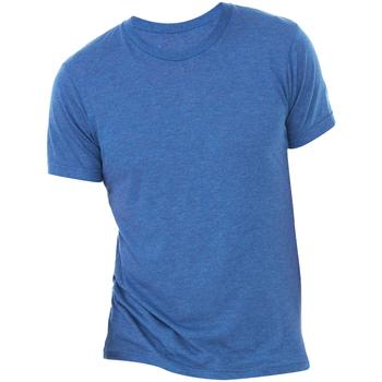 textil Hombre Camisetas manga corta Bella + Canvas CA3413 Azul Real Jaspeado