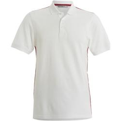 textil Hombre Polos manga corta Kustom Kit KK603 Blanco/Rojo