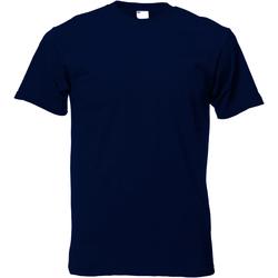 textil Hombre Camisetas manga corta Universal Textiles 61082 Azul Medianoche
