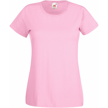 textil Mujer Camisetas manga corta Fruit Of The Loom 61372 Rosa Claro