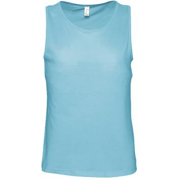 textil Hombre Camisetas sin mangas Sols 11465 Azul Atolón