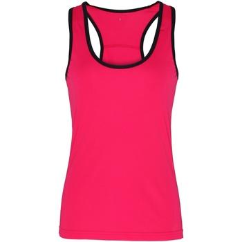 textil Mujer Camisetas sin mangas Tridri TR023 Rosa/negro