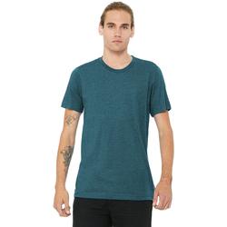 textil Hombre Camisetas manga corta Bella + Canvas CA3413 Azul Acero Triblend
